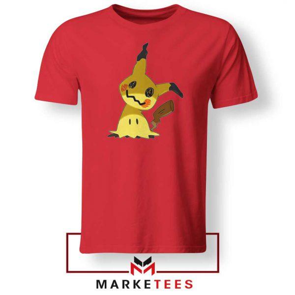 Buy Cute Pikachu Mimikyu Red Tee Shirt