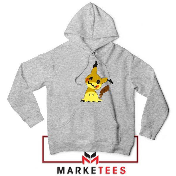 Buy Cute Pikachu Mimikyu Sport Grey Hoodie