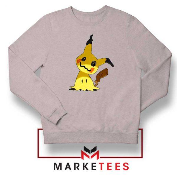 Buy Cute Pikachu Mimikyu Sport Grey Sweater