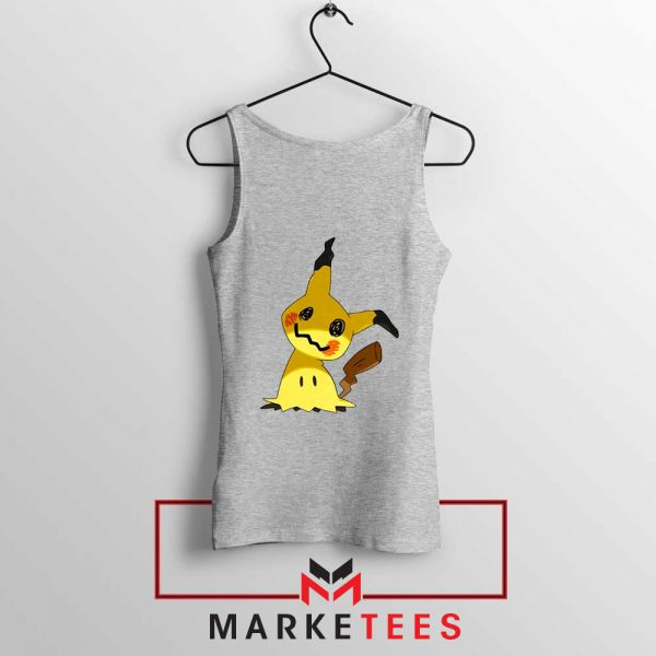 Buy Cute Pikachu Mimikyu Sport Grey Tank Top