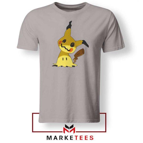 Buy Cute Pikachu Mimikyu Sport grey Tee Shirt