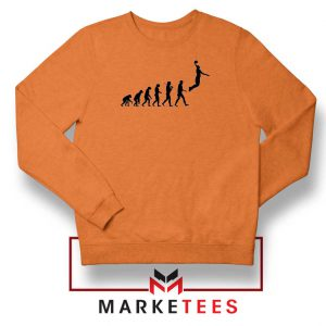 Buy Evolution Basketball Orange Sweater