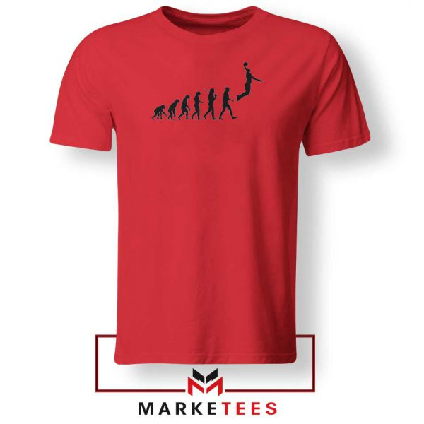 Buy Evolution Basketball Red Tee Shirt