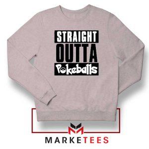 Buy Straight Outta Pokeballs Sport Grey Sweater