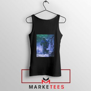 Circles Kneeling Post Malone Black Tank Top