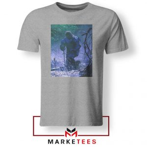 Circles Kneeling Post Malone Grey Tshirt