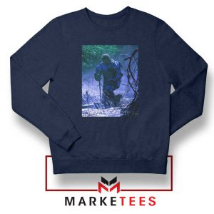 Circles Kneeling Post Malone Navy Sweatshirt