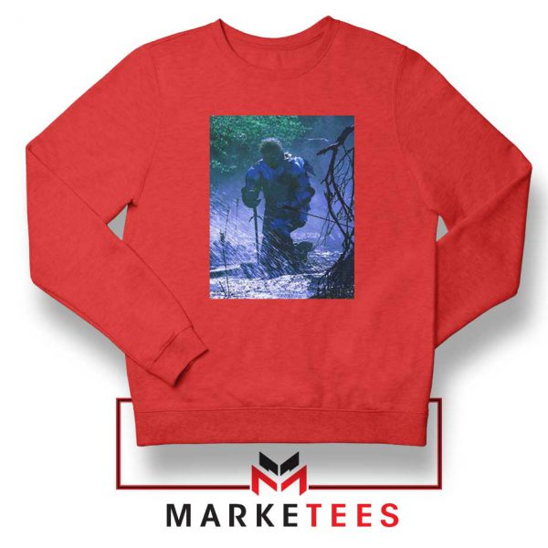 Circles Kneeling Post Malone Red Sweatshirt