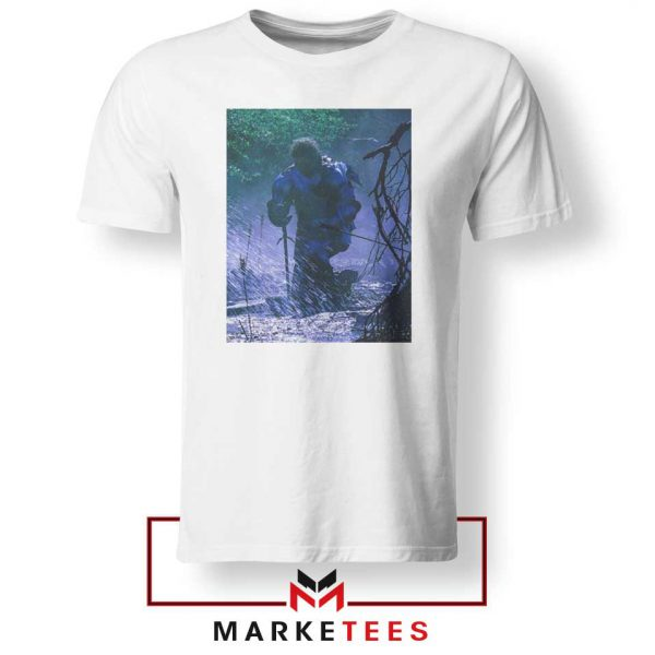 Circles Kneeling Post Malone White Tshirt