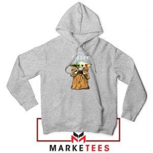 Coffee Baby Yoda Sport Grey Hoodie