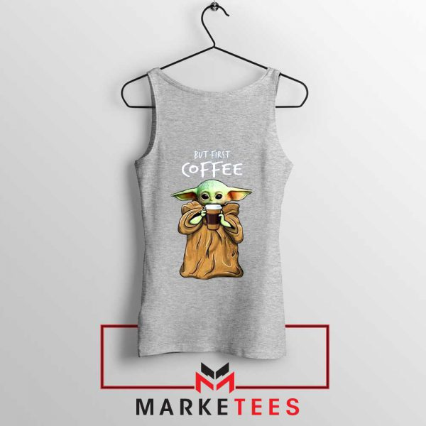 Coffee Baby Yoda Sport Grey Tank Top