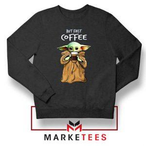 Coffee Baby Yoda Sweatshirt