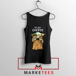 Coffee Baby Yoda Tank Top