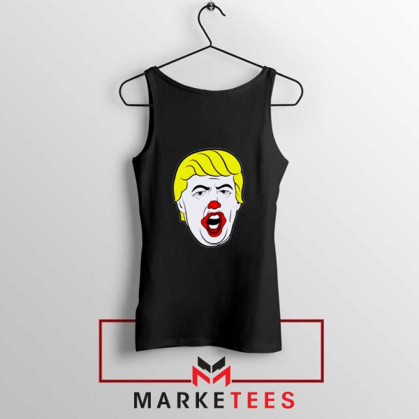 Donald Trump Clown Black Tank Top