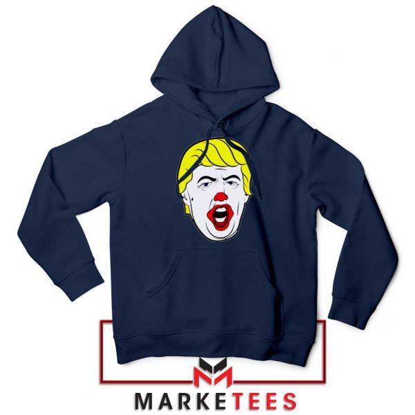 Donald Trump Clown Navy Hoodie