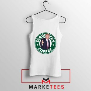Donald Trump Starbucks Parody White Tank Top
