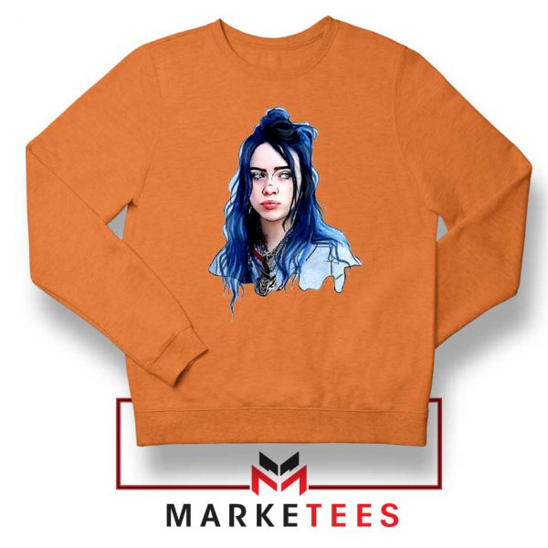 Eilish American Singer Orange Sweatshirt
