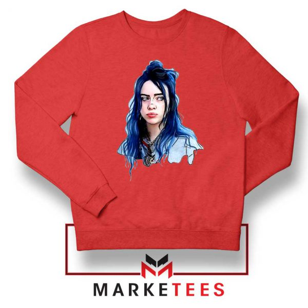 Eilish American Singer Red Sweatshirt