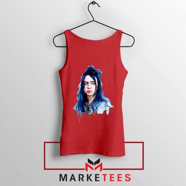 Eilish American Singer Red Tank Top