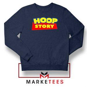 Hoop Story Basketball Navy Blue Sweatshirt