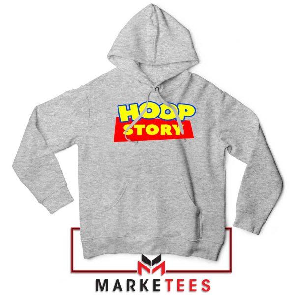 Hoop Story Basketball Sport Grey Hoodie