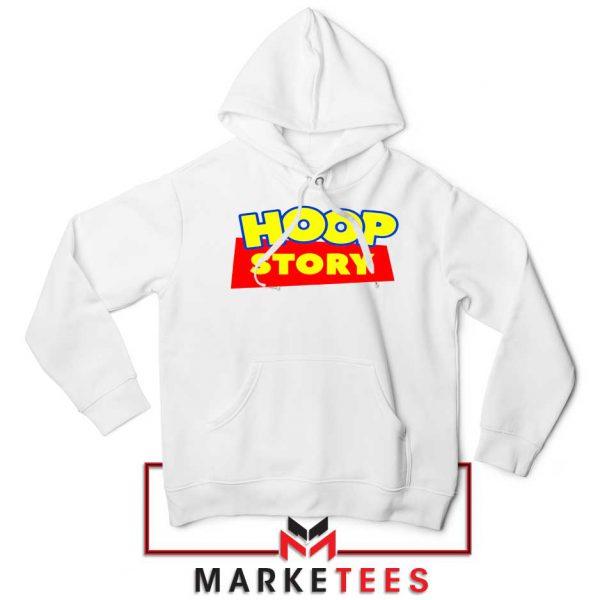 Hoop Story Basketball White Hoodie