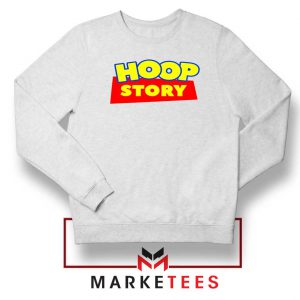 Hoop Story Basketball White Sweatshirt