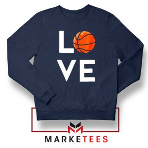 I Love Basketball Navy Blue Sweater