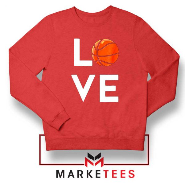 I Love Basketball Red Sweater