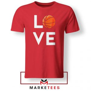I Love Basketball Red Tee Shirt