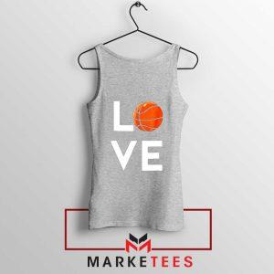 I Love Basketball Sport Grey Tank Top
