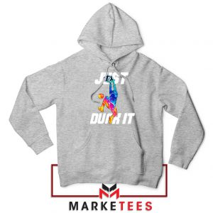 Just Dunk It Basketball Slam Sport Grey Hoodie