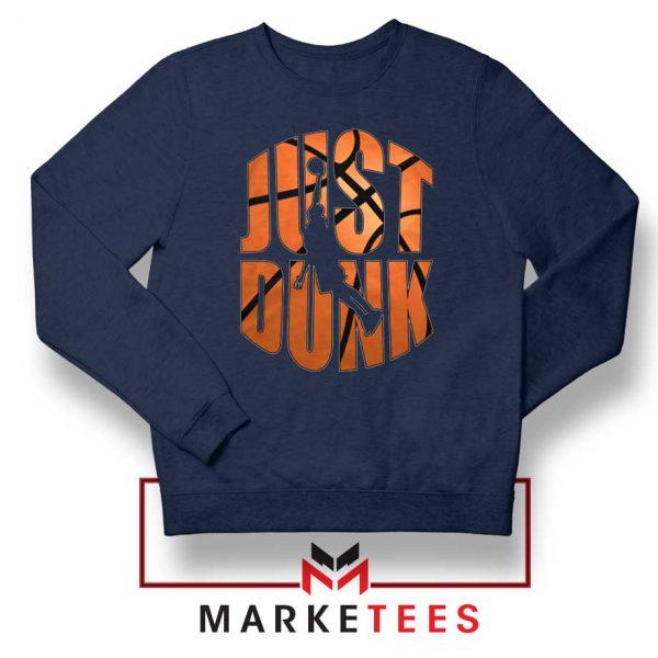 Just Dunk It NBA Navy Blue Sweatshirt