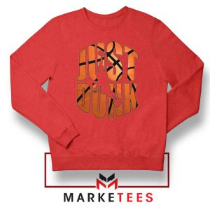 Just Dunk It NBA Red Sweatshirt