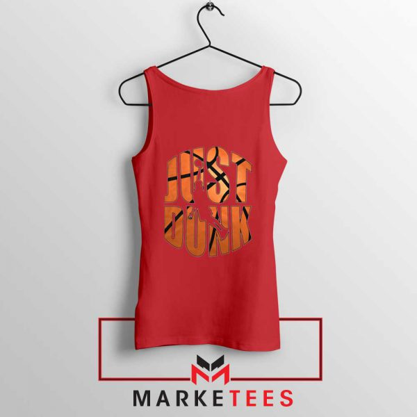 Just Dunk It NBA Red Tank Top