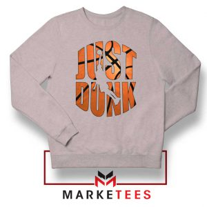 Just Dunk It NBA Sport Grey Sweatshirt