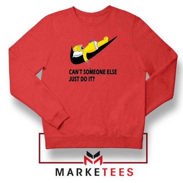 Lazy Homer Bart Simpson Red Sweatshirt