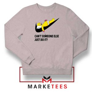 Lazy Homer Bart Simpson Sport Grey Sweatshirt