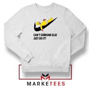 Lazy Homer Bart Simpson White Sweatshirt