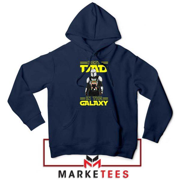 Mandalorian Best Dad In The Galaxy Navy Blue Hoodie