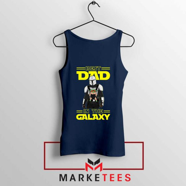 Mandalorian Best Dad In The Galaxy Navy Blue Tank Top
