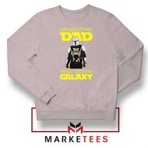 Mandalorian Best Dad In The Galaxy Sport Grey Sweatshirt