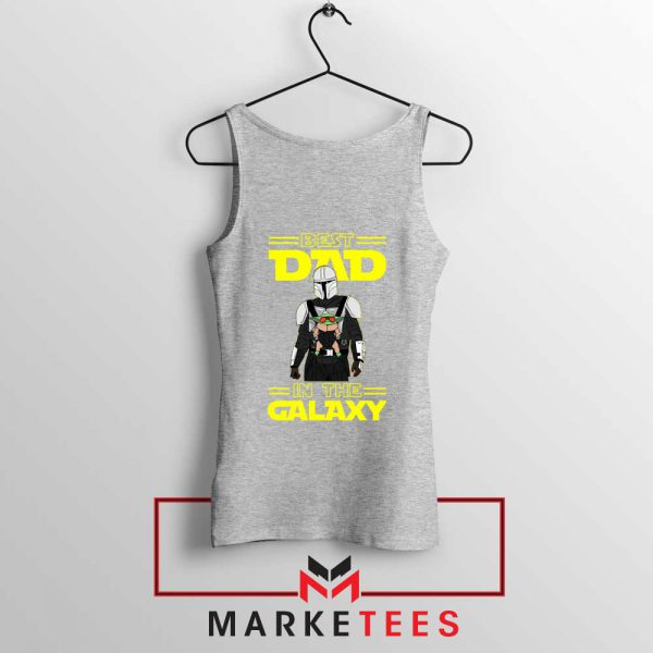 Mandalorian Best Dad In The Galaxy Sport Grey Tank Top