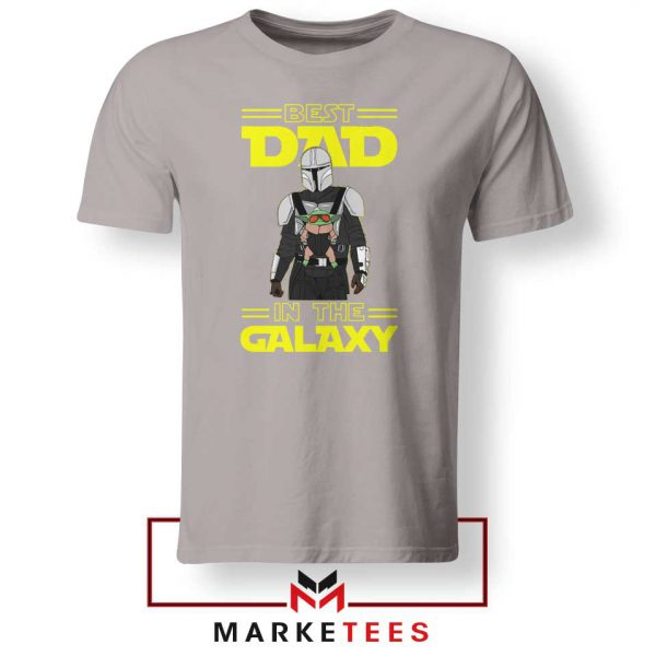 Mandalorian Best Dad In The Galaxy Sport Grey Tee Shirt