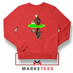 Mandalorian Rick and Morty Red Sweater