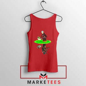 Mandalorian Rick and Morty Red Tank Top