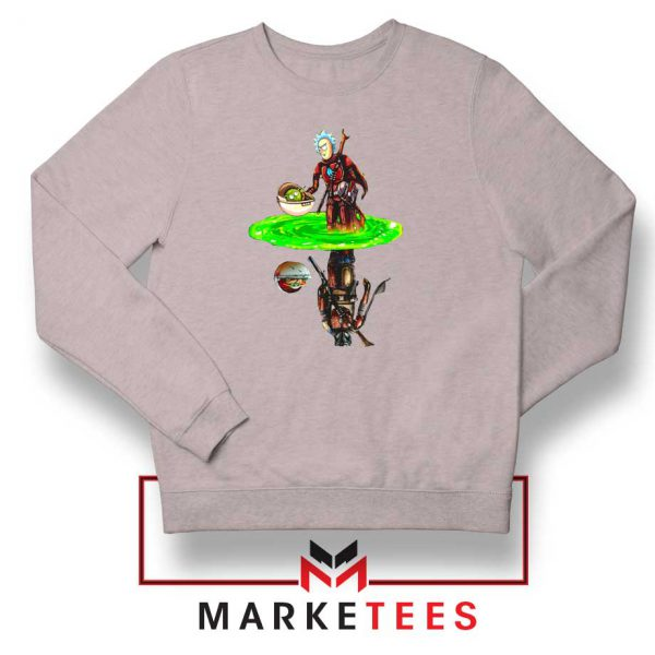 Mandalorian Rick and Morty Sport Grey Sweater