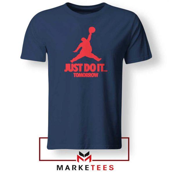 Nike Jordan Parody Navy Blue Tee Shirt
