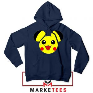 Pikachu Mickey Mouse Navy Blue Hoodie