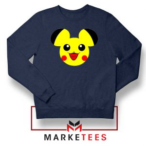 Pikachu Mickey Mouse Navy Blue Sweater